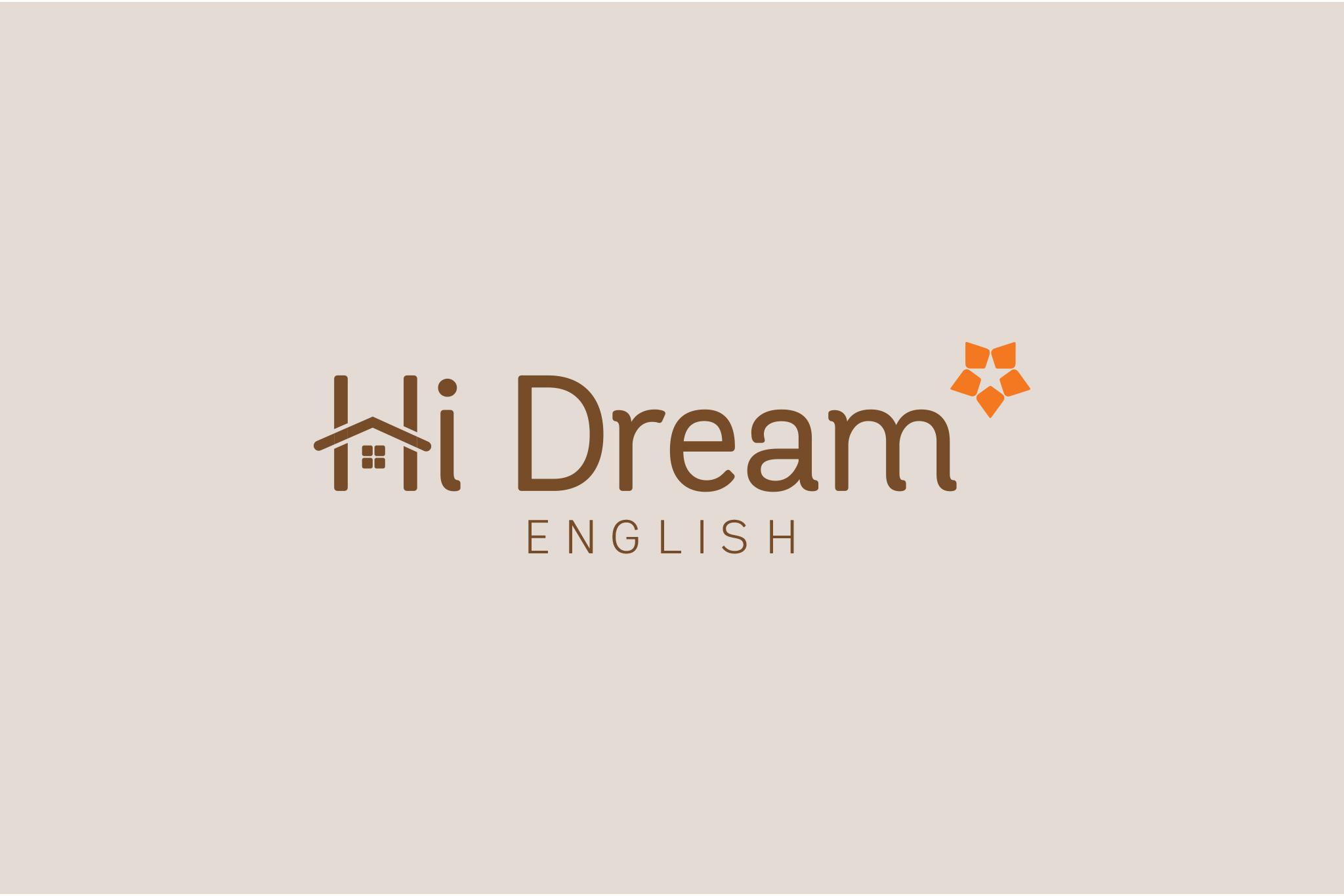 THIẾT KẾ LOGO HI DREAM ENGLISH