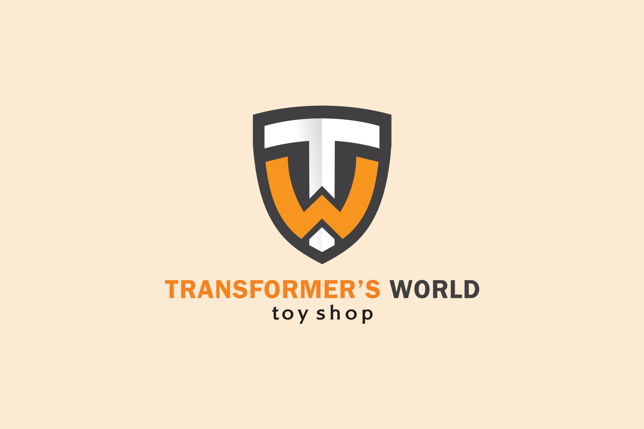 THIẾT KẾ LOGO TRANSFORMER'S WORLD - TOY STORE