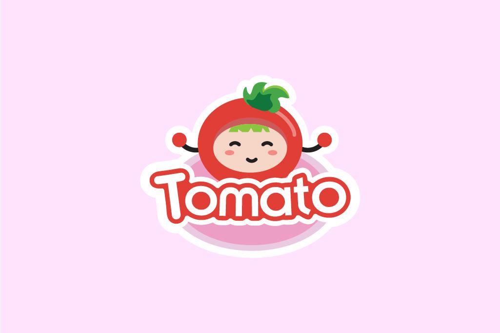 THIẾT KẾ LOGO THỜI TRANG  TRẺ EM TOMATO