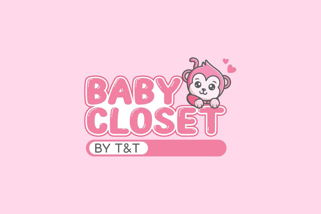 THIẾT KẾ LOGO THỜI TRANG MẸ & BÉ BABY CLOSET BY T&T
