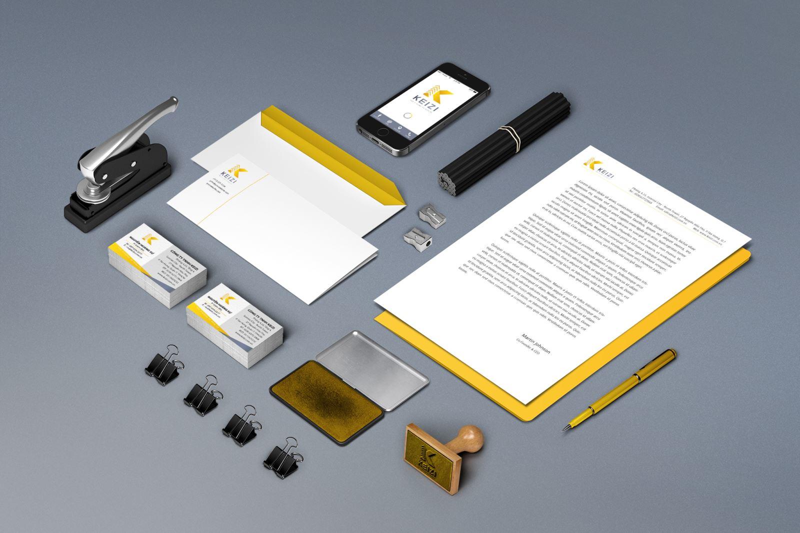 thiết kế bộ nhận diện thương hiệu Bee Art