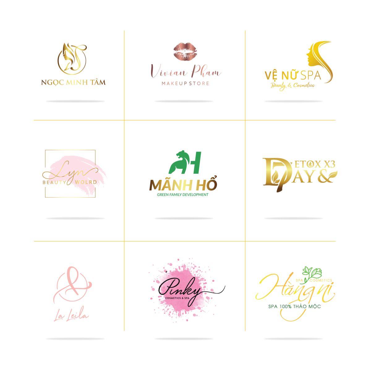 Thiết kế logo spa, làm đẹp