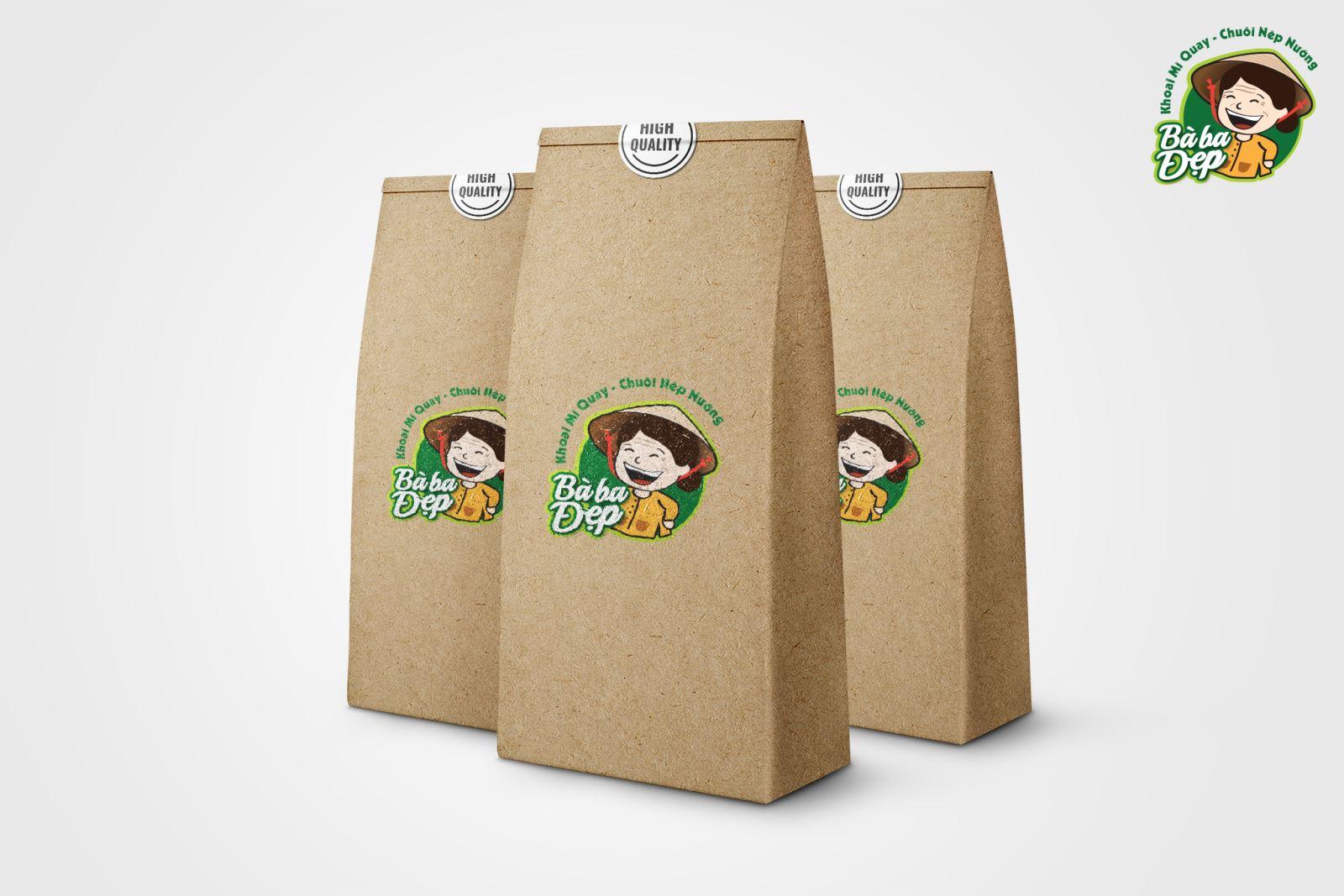 Thiết kế logo thương hiệu ẩm thực Cô Ba đẹp