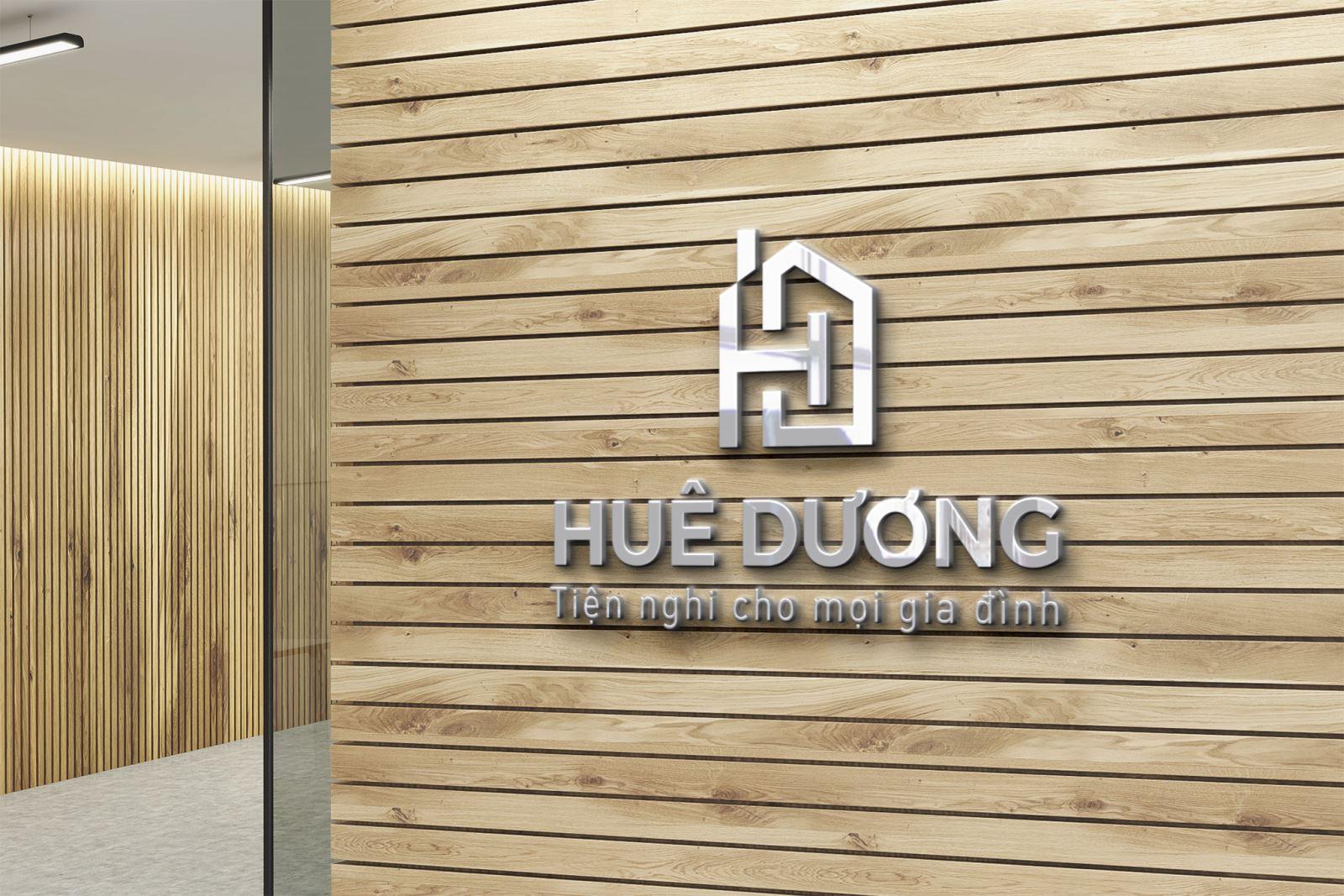 Thiết kế logo siêu thị Huệ Dương
