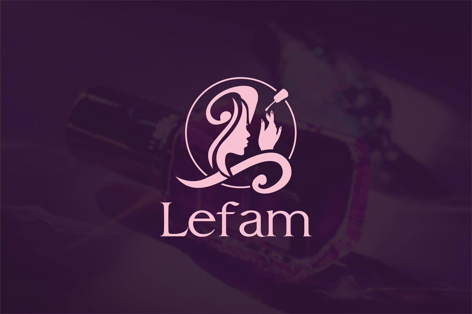 Thiết kế logo thương hiệu Nail Lefam