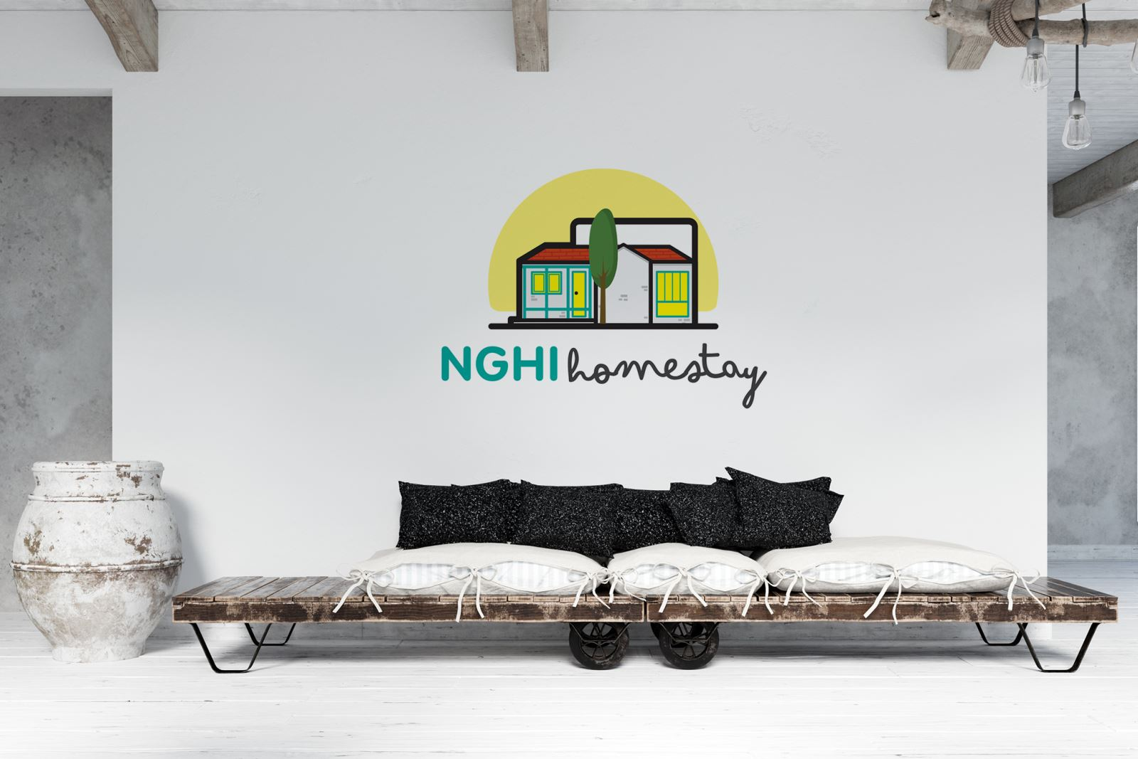 THIẾT KẾ LOGO NGHI HOMESTAY