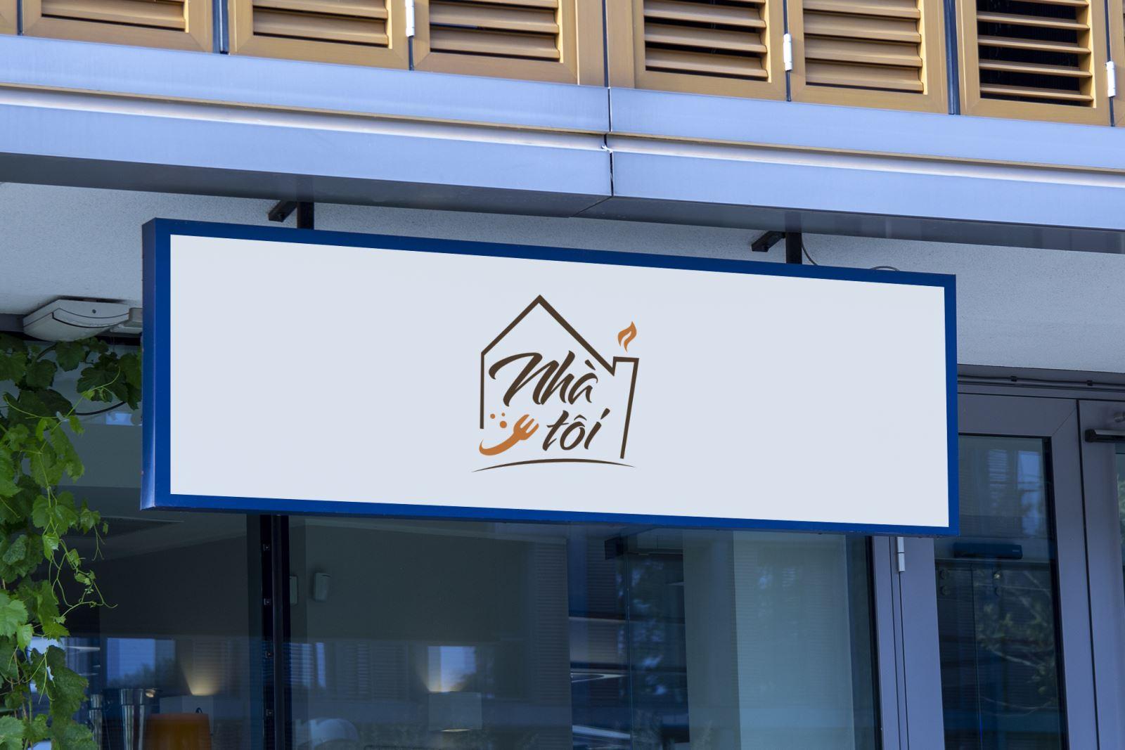 Thiết kế logo ẩm thực Nhà Tôi