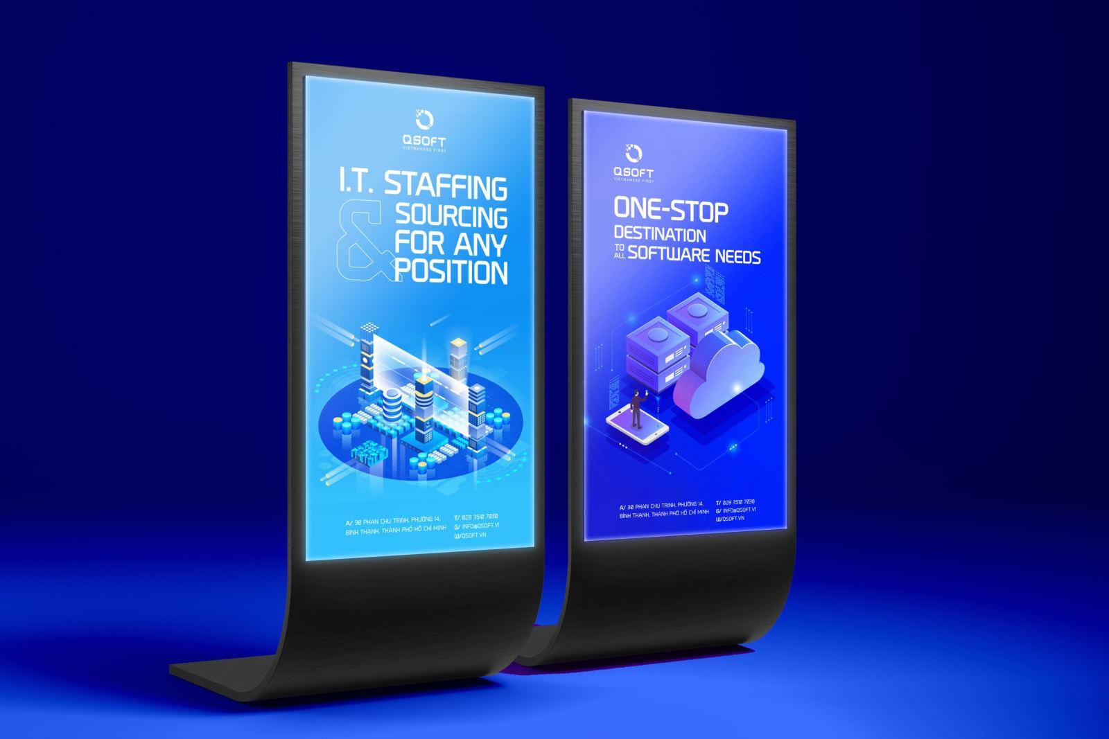 thiết kế logo công nghệ thông tin Qsoft
